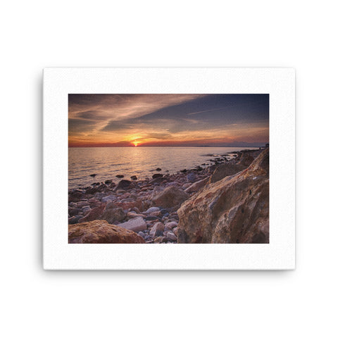 Image of Sunset Beach Canvas - CalvinMade