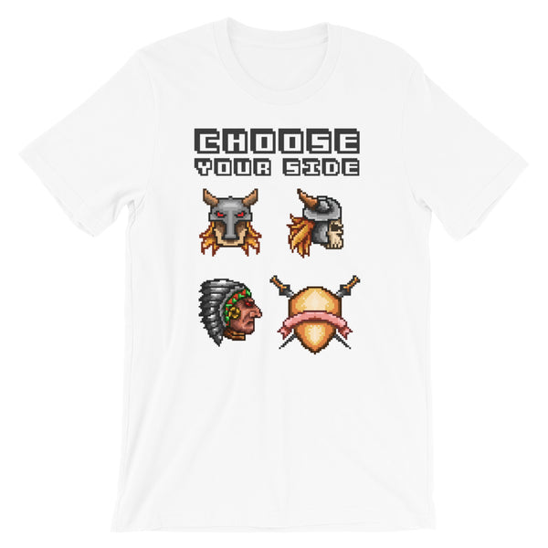 Retro Choose your side Short-Sleeve Unisex T-Shirt