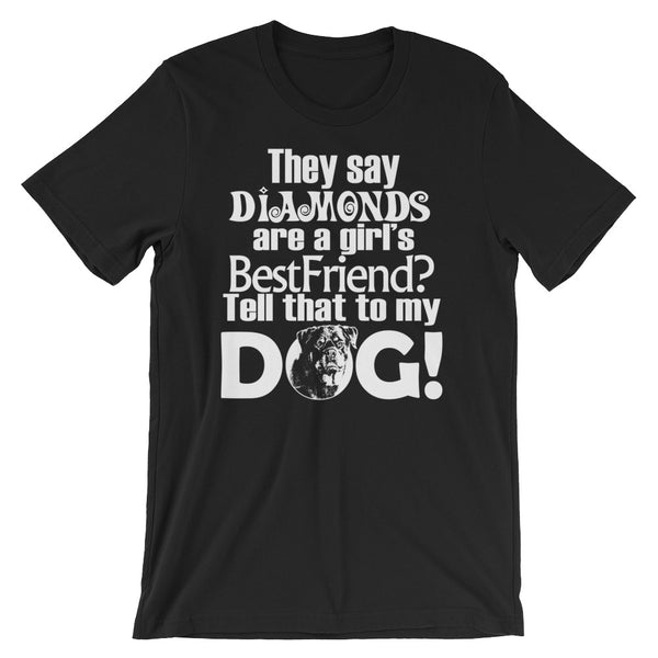Tell that to my dog Unisex short sleeve t-shirt