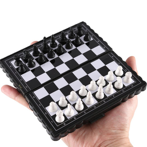 Mini Chess Folding Magnetic Plastic Chessboard