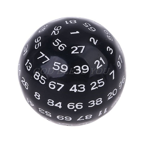 Image of 100 Sides Polyhedral Dice D100 Multi Sided Dice