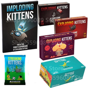 Card Game Streaking Expansion Kittens Bundle Game for Explode Fun Board Game Imploding explosing for kittens