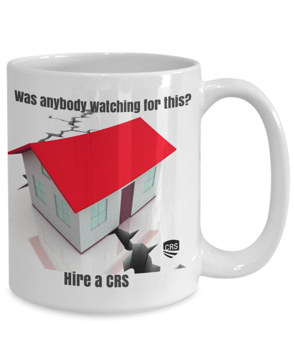 NEW CRS-Was Anybody Watching for This?-White 15 oz mug
