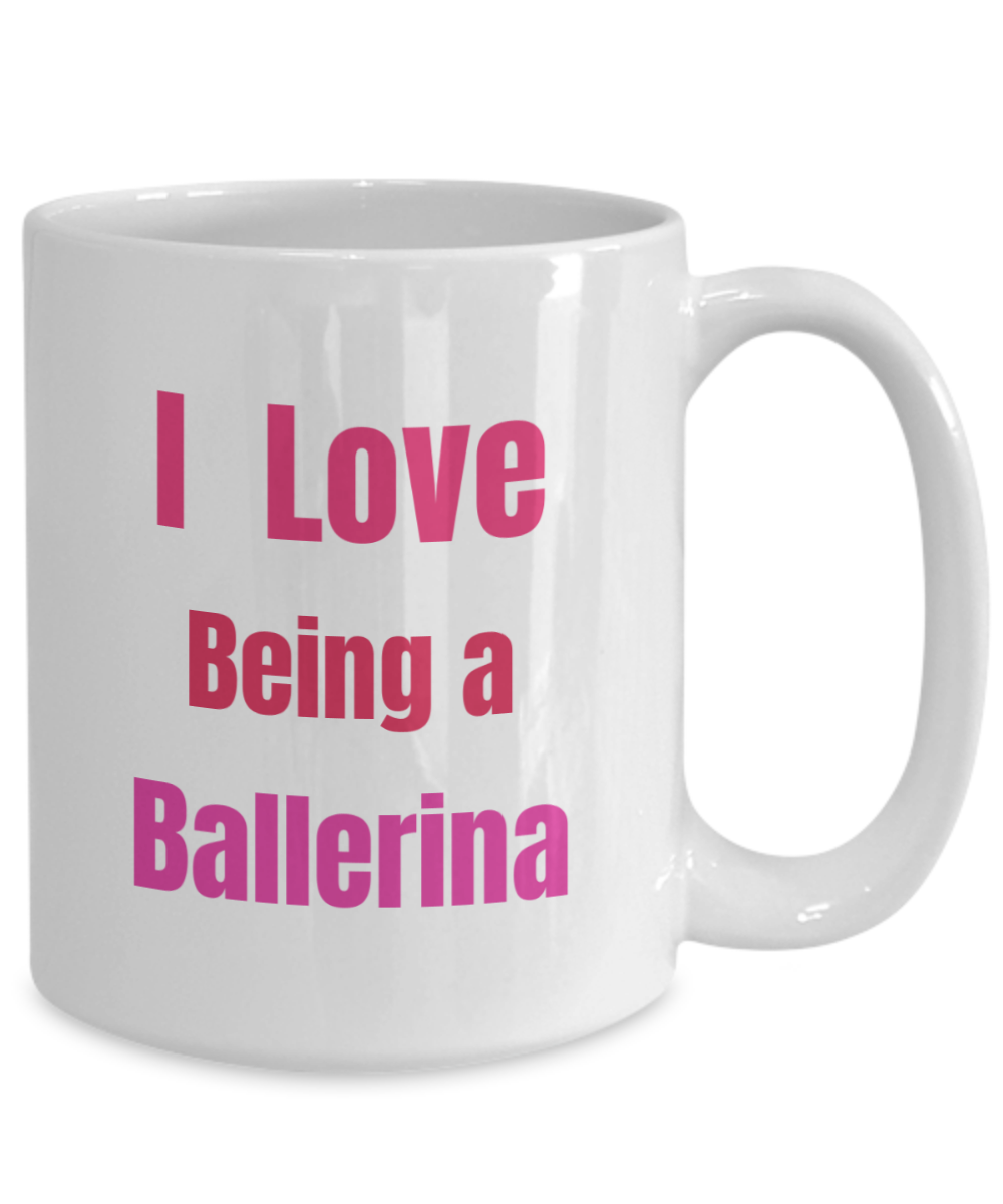I Love Being a Ballerina - large mug