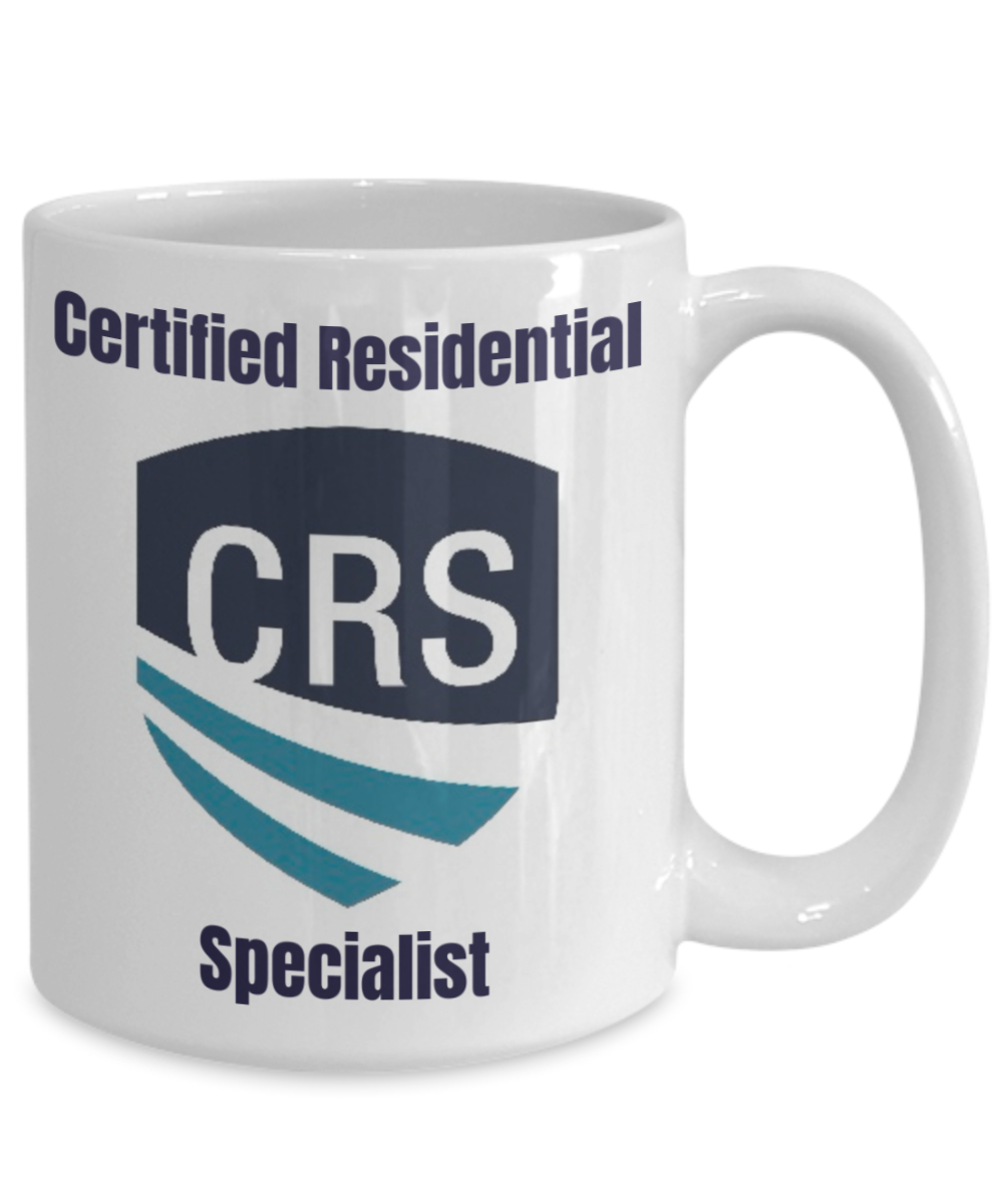 NEW CRS-CRS Shield on White Cup-15 oz