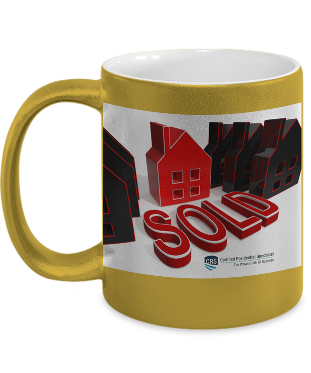 New CRS- SOLD - Gold Metallic Mug - 11 oz