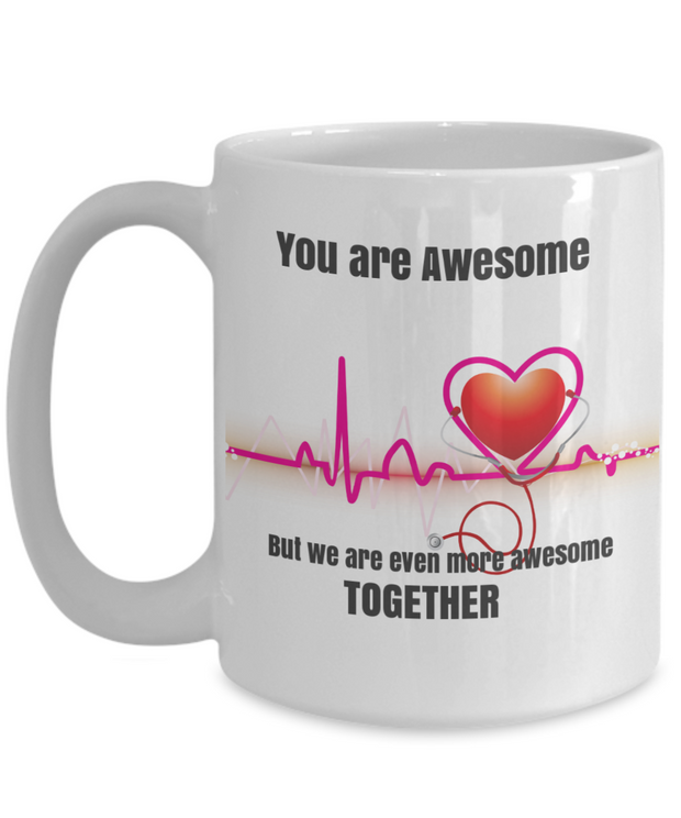 Awesome Together-Heart Throb Mug