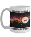 New-Absolutely The Most Awesome Girlfriend-Black-Orange