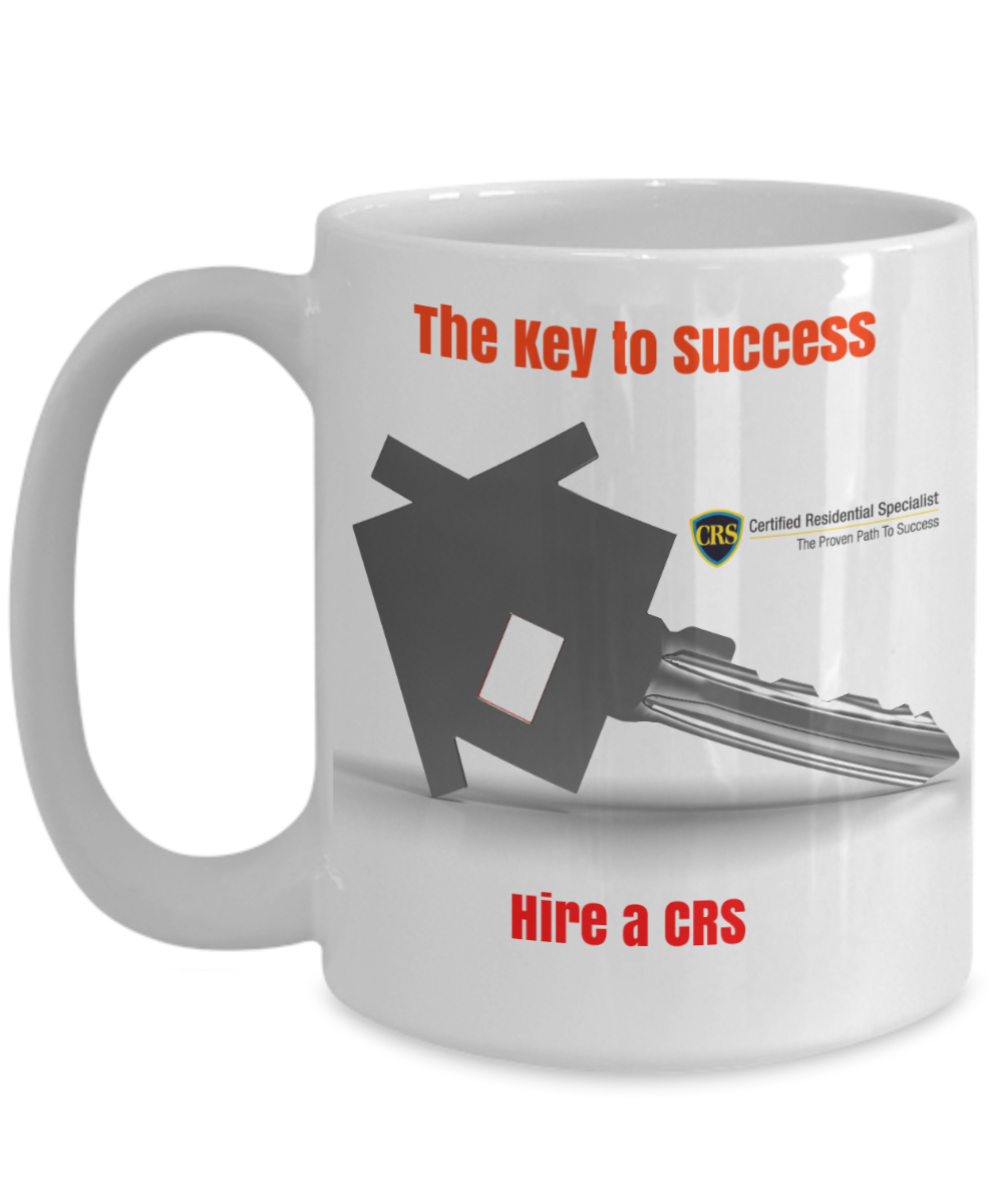 CRS-THE KEY TO SUCCESS-WHITE 15 OZ MUG-FULL LOGO