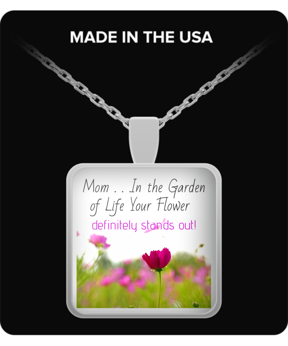 Mom-In the Garden of Life-Necklace-Silver