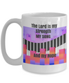 The Lord is My Strength and My Hope - Piano - Pink and Black