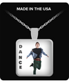 Guy Dancer - Pendant Necklace-Fashion Silver Chain