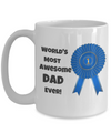 World's Most Awesome Dad Ever!-Blue Ribbon