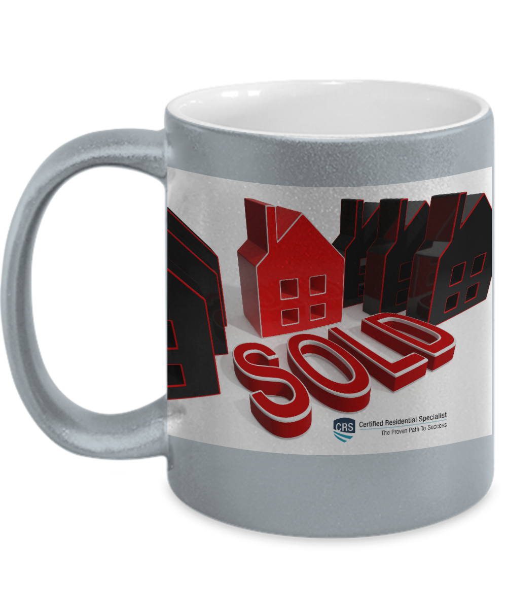 New CRS-SOLD-Silver Metallic Look Mug-11 oz
