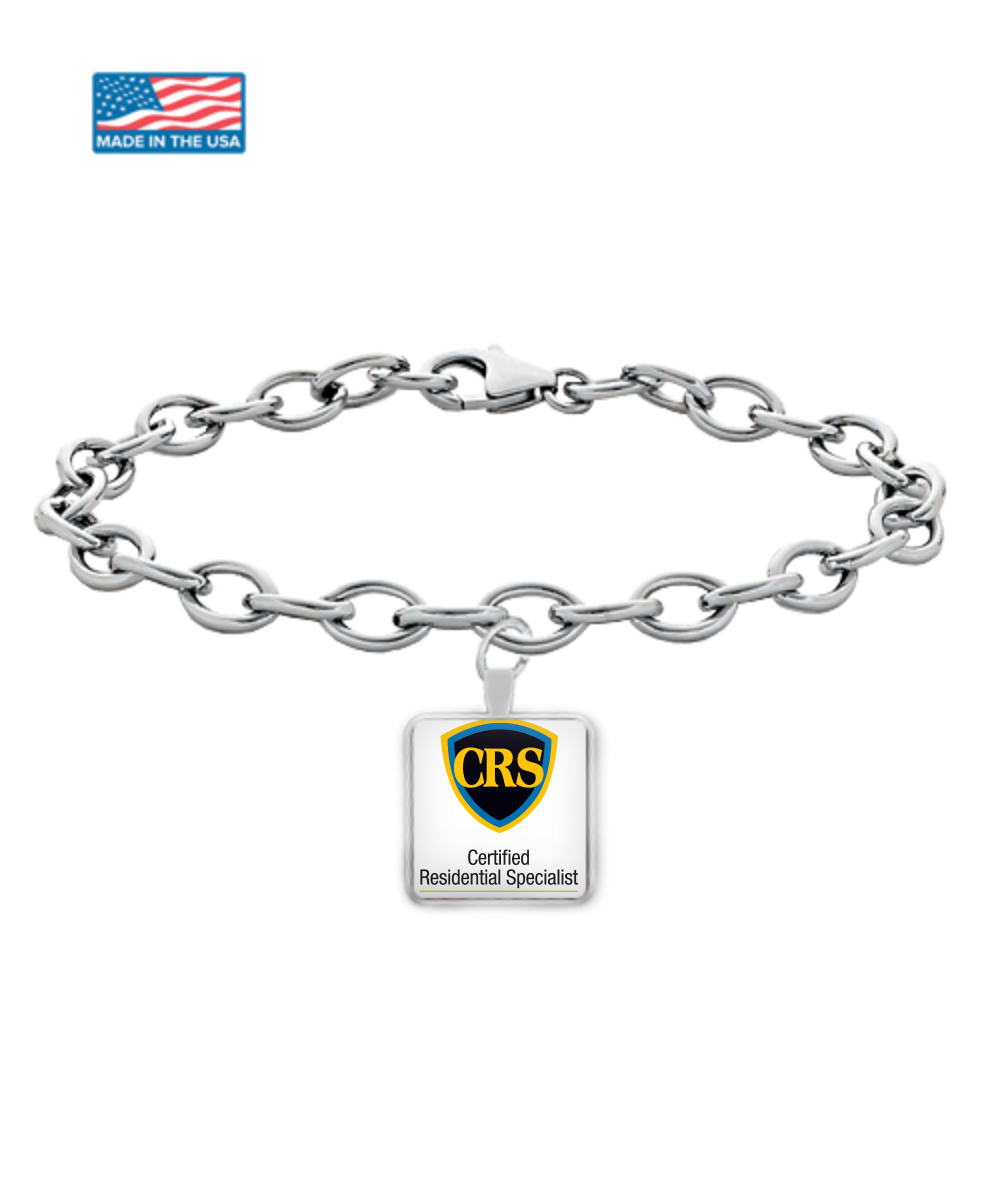CRS Shield - Silver Bracelet- Black-yellow-blue-