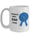 World's Best Dad Ever - Blue ribbon
