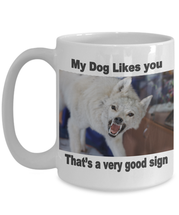 My Dog Likes You - White Dog