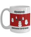 Red and white girlfriend mug-two sided-15 OZ