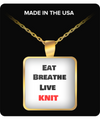 Eat - Breathe - Live - KNIT-Gold Fashion Chain Necklace