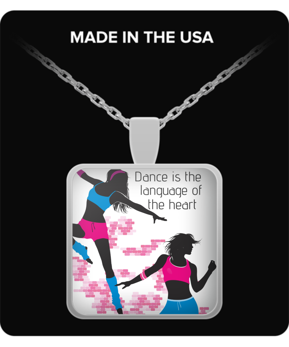 Dance is the Language of the Heart-Necklace-silver