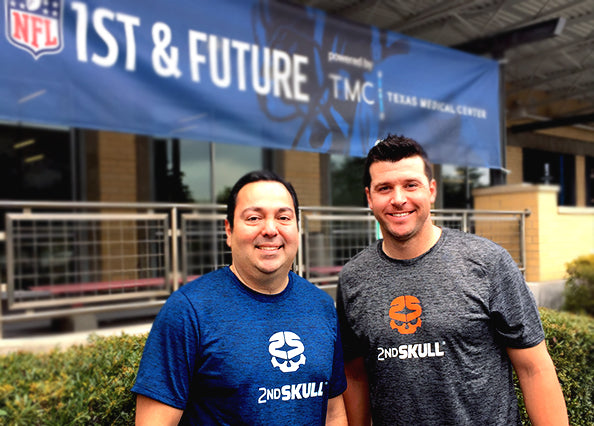 Federico Olivares, Founder and President of 2nd Skull (left) Tyler Palko, former NFL player and QB for University of Pittsburgh (right).