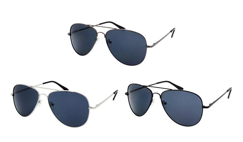 Wholesale Metal Spring Hinge Aviator Fashion Sunglasses - wholesalesunglasses.net