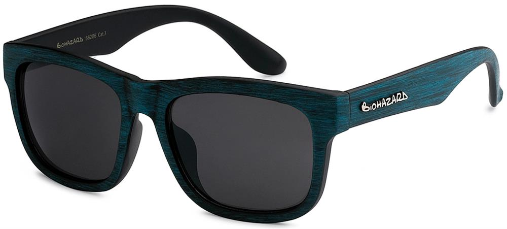 Classic biohazard Sunglasses /Faux Wood. - wholesalesunglasses.net