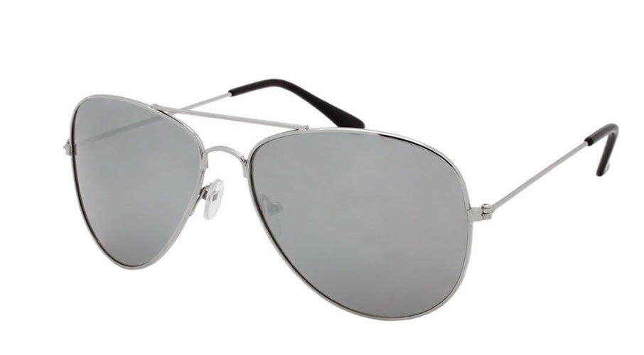 Wholesale Smoke Color Metal UV400 Aviator Sunglasses Unisex - wholesalesunglasses.net