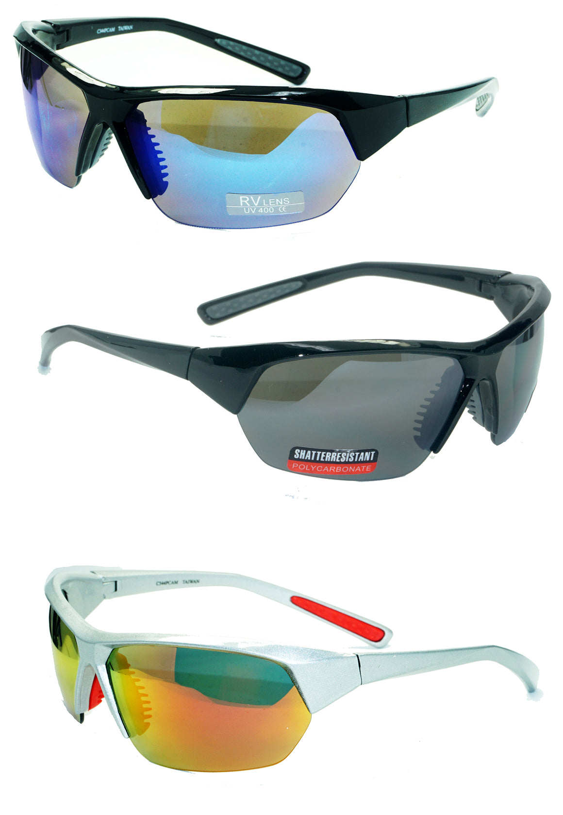 Wholesale Shatter Resistant Sunglasses C344PCAM - wholesalesunglasses.net