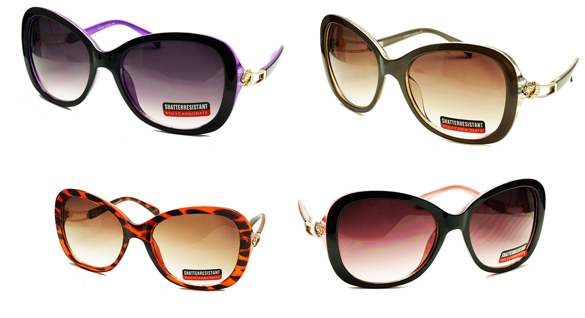 Shatterproof Women Wholesale Sunglasses -D566GR - wholesalesunglasses.net