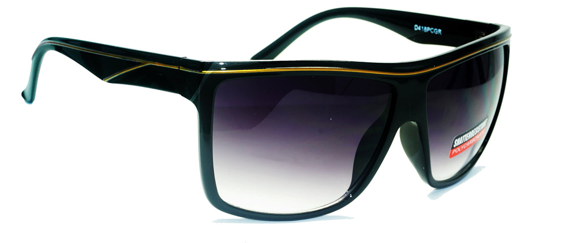 Fashion Women Shatterproof Sunglasses#D418PCGR - wholesalesunglasses.net