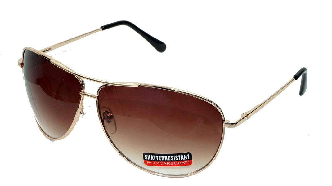 Large  Aviator Silver-Mirrored lens Sunglasses - wholesalesunglasses.net