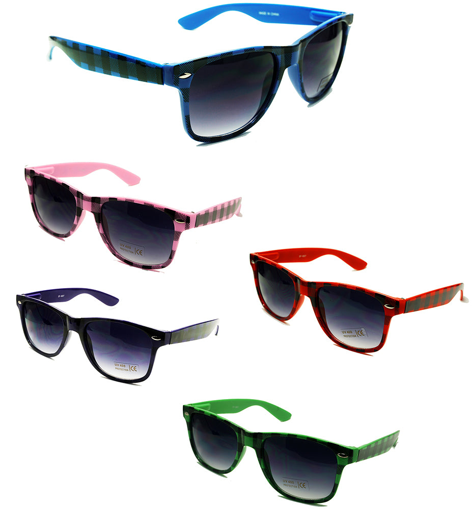 Wholesale Classic Style sunglasses with plaid pattern-sf-6507 - wholesalesunglasses.net