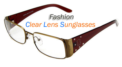 Clear Lens fashion Sunglasses- M3154-CLR-RH - wholesalesunglasses.net