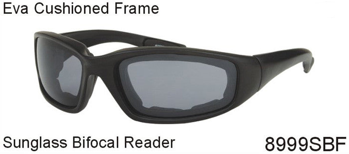 Foam Padded Sunglass Bifocal Reader-  8999SBF - wholesalesunglasses.net