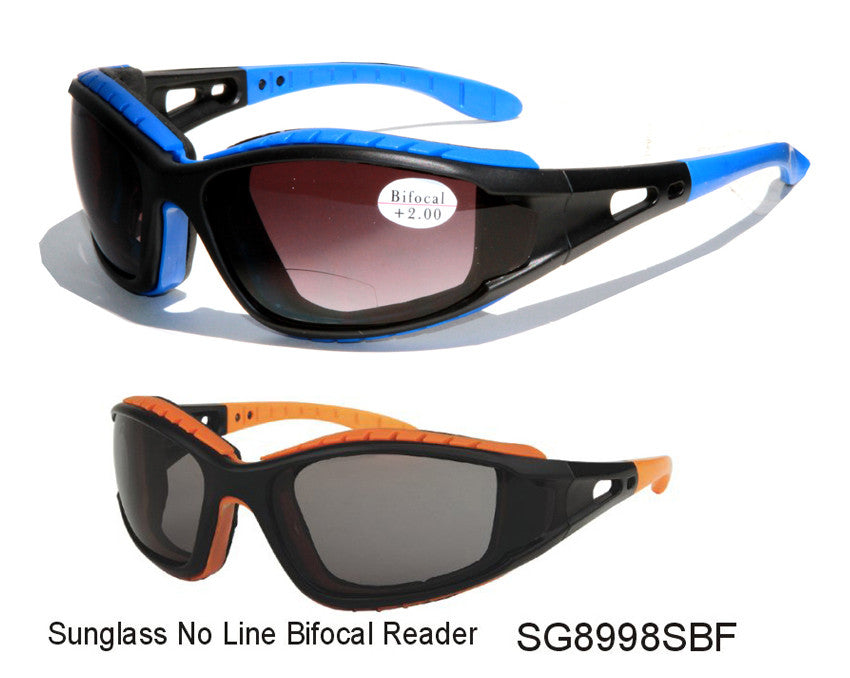 Foam Padded Sunglasses/ No Line Bifocal Reader-SG8998SBF - wholesalesunglasses.net