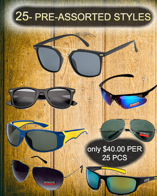 package deal-25 pcs - wholesalesunglasses.net