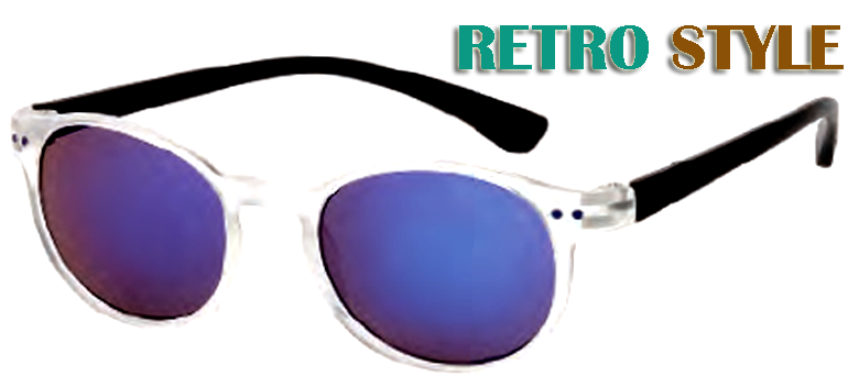 Retro Shatterproof Wholesale Sunglasses W/Multi color Lens-D519CLRV - wholesalesunglasses.net