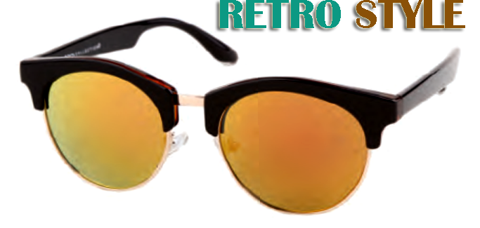 Retro Shatterproof Wholesale Sunglasses W/Multi color Lens-D551RV` - wholesalesunglasses.net