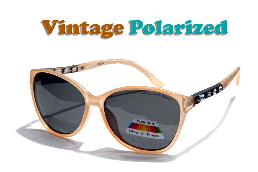 Retro Women Polarized Sunglasses-D473RPPL - wholesalesunglasses.net