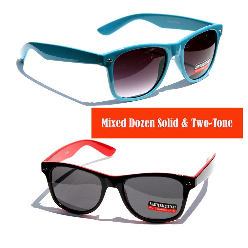 Shatterproof Classic Sunglasses-D263GR-MIX - wholesalesunglasses.net