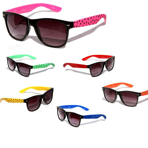 Stars Print Design Pattern Classic Sunglasses #P1543-12 - wholesalesunglasses.net