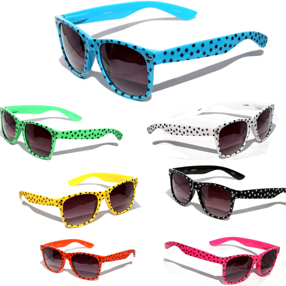 Stars Print Design Pattern Classic Sunglasses #P1543-13 - wholesalesunglasses.net