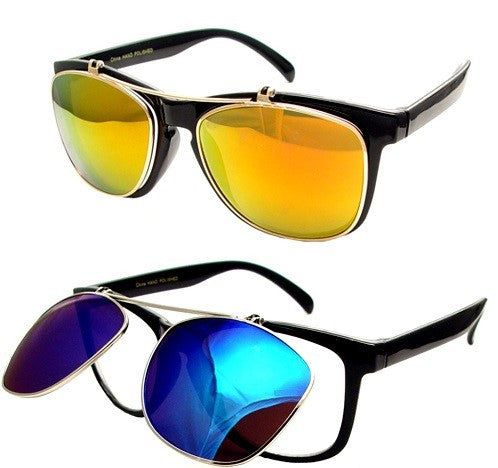Wholesale Classic Flip up Sunglasses-D377AM - wholesalesunglasses.net