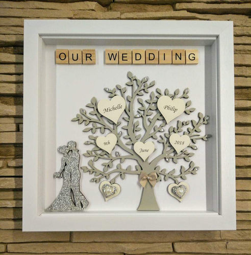Wedding day tree frame
