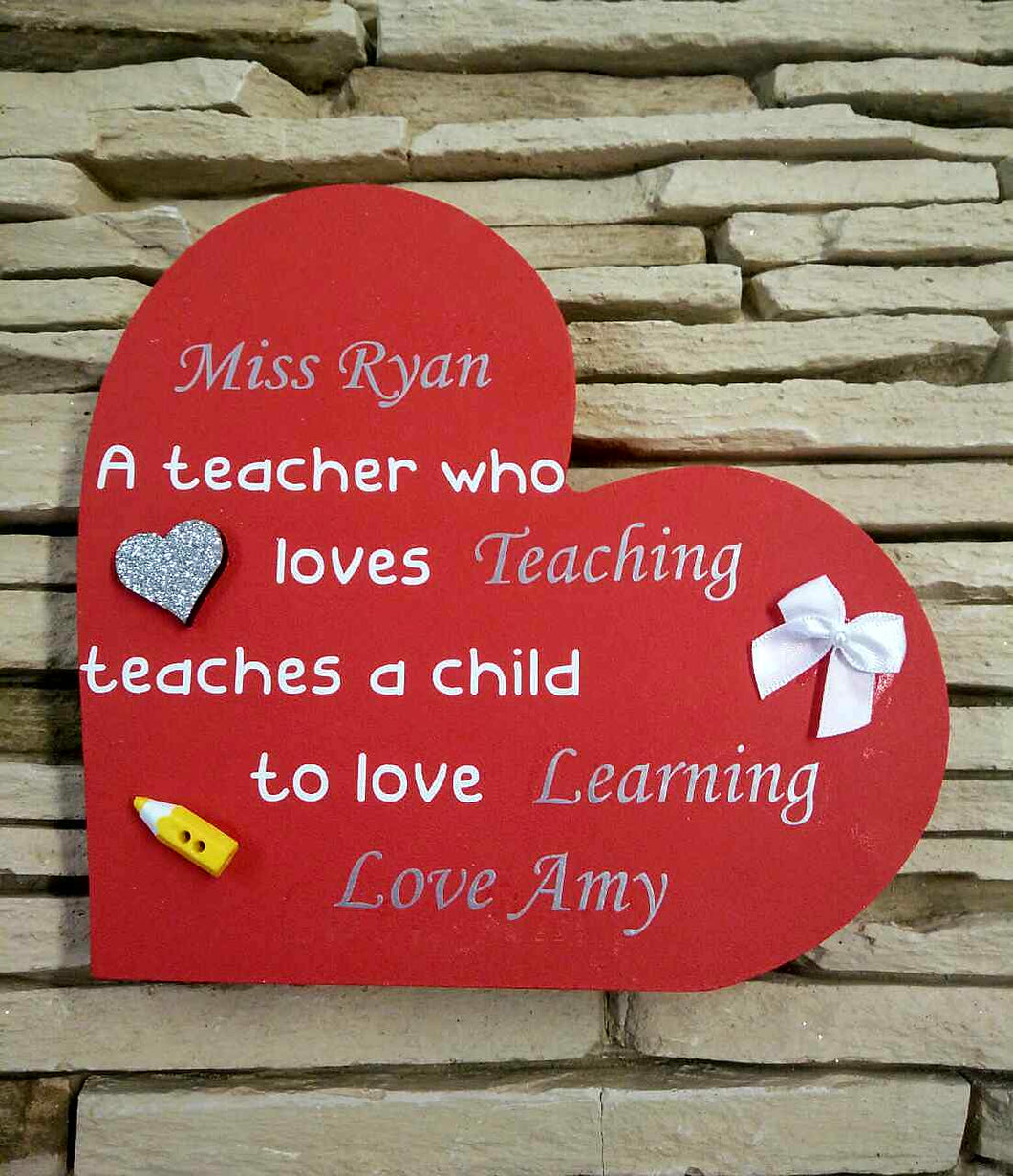 Teacher Thank You Gift - Heart