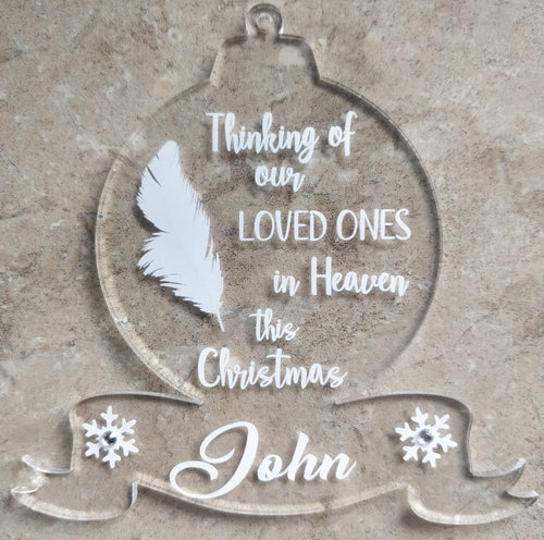 Memorial hanging Christmas decoration
