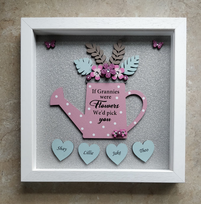 Watering can personalised frame