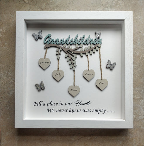 Hanging hearts Grandchildren frame