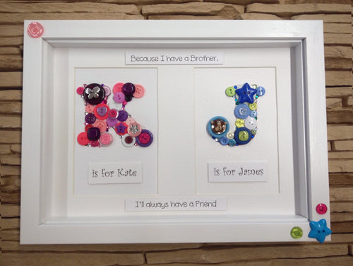 Personalised Double Button Frame